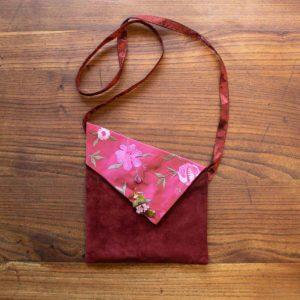 Stoff Leder Tasche